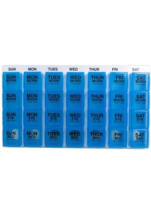 GMS Large Medication Pill Organizer (Various Color)