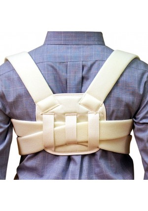 Trademark Supplies Posture Corrective Brace, Clavicle Brace and Posture Support For Men And Women, Latex Free Moistur
