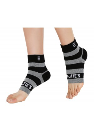 Zoomies Plantar Fasciitis Compression Foot Sleeves - Provides Pain Relief in Heels and Arches. Unisex - 1