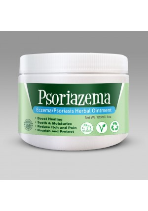 Psoriazema - Eczema and Psoriasis Herbal Ointment, Contains Certified 100 % natural ingredients, Soothes and Moisturizes Skin