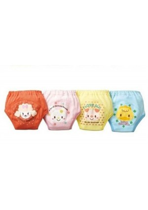 LOSORN ZPY Losorn (Tm) 4 X Baby Toddler Girls Cute Pack of 4 Layers Potty Training Pants Reusable (90, A1)