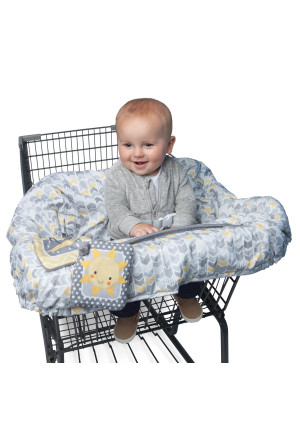 Boppy Shopping Cart Cover, Sunshine/Gray