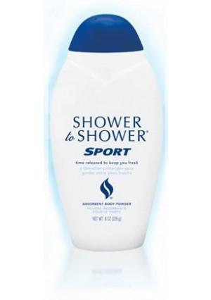 Shower to Shower Sport Body Powder 8 Oz (Pack of 3)
