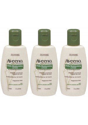 Aveeno Active Naturals Daily Moisturizing Lotion, 1 Oz. (3 Pack)