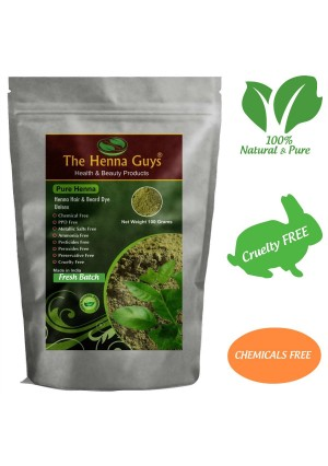 100% Pure and Natural Henna Powder For Hair Dye / Color 100 Grams - The Henna Guys