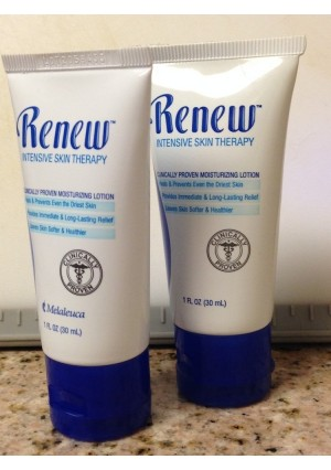 Renew Intensive Skin Therapy Lotion by Melaleuca (2 Pack, 1 oz. each) - Great Sample / Travel Size for Purse, Gym Bag, Vehicle. Dry, Chapped Skin Relief.