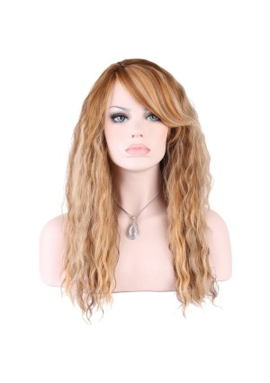 KeeWig Fashion Synthetic Wig Long Curly Mix Medium and Dark Blonde ROSE #P2216