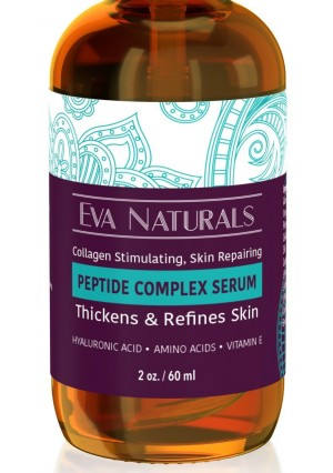 Eva Naturals Peptide Complex Serum for Skin, Anti Aging, Anti Wrinkle Collagen Booster, Face and Neck Cream (2