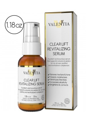 Valentia Skin Care NEW - Valentia Clear Lift Revitalizing Serum - Natural and Organic Ingredients - Includes Wakame (