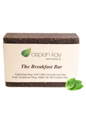 Aspen Kay Naturals Coffee and Oatmeal Exfoliating Soap, 100% Natural and Organic Soap. Loaded With Organic Skin Lovin