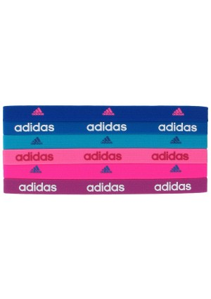 adidas Women's Sidespin Hairband (Pack of 6)