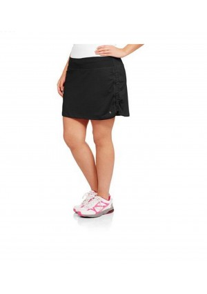 Plus Sized Black Knit Skort by Danskin Now. Skirt with Attached Shorts Underneath.