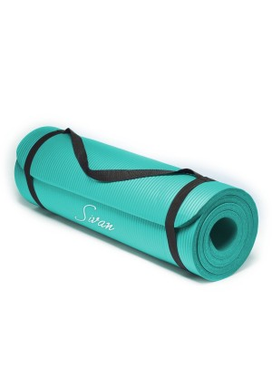 Sivan Health and Fitness 1/2-Inch Extra Thick 71-Inch Long NBR Comfort Foam Yoga Mat