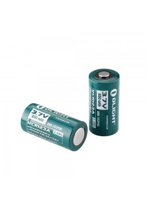 Olight 650mAh 16340 RCR123A 3.7v Lithium-ion Rechargeable Batteries Design for Olight S1 S10R S10C S10 Series Flashlights