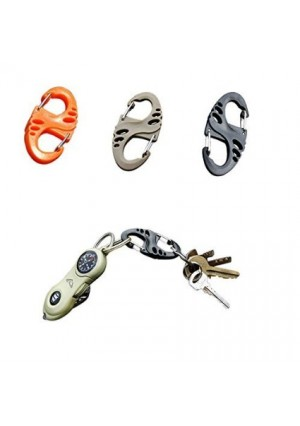 Blovess Yueton 18 Pcs 50mm S-Biner Plastic Clip Snap Hook Dual Buckle Keychain For Hiking/Camping/Outdoors