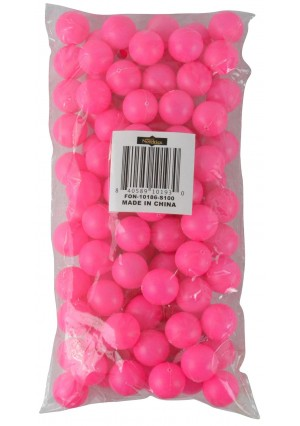 """Fairly Odd Novelties 3/4"""" Mini Ping Pong/Table Tennis/Beer Pong Round Balls (100 Pack), 19mm, Pink"""