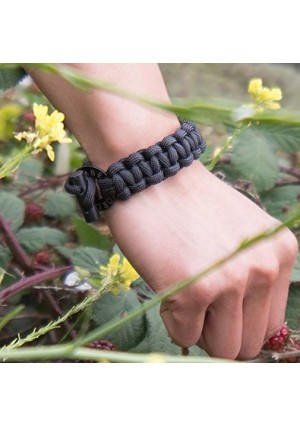 Bomber Men's Bracelet With Firestarter and Braided Paracord ? Survival Jewelry with Braided Firestarter B
