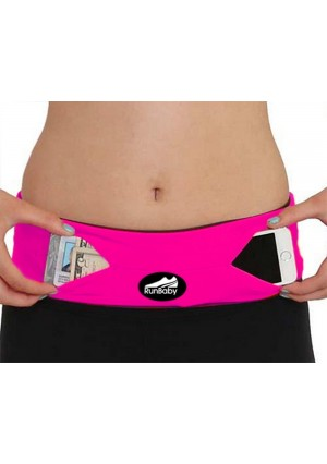 Running Belt - Best for Exercise / Workout - Waterproof, Machine Washable/ Dryable - Expandable, Adjustable and Reflective - by Run Baby Sport