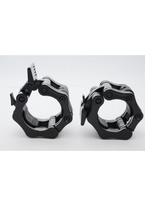 "Clout Fitness Quick Release Pair of Locking 2"" Olympic Size Barbell Clamp Collar Great for Pro Crossfit Trainin"