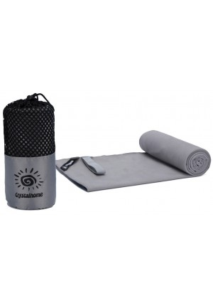 Crystalhome Fast Dry Towel Absorbent Ultra, Compact Microfiber Sports Travel Bath Towels Quick Dry, Fast Drying Towel Xl 32x50 Inches and Super Large Lightweight for Camping, Yoga, Beach, Spa Etc.