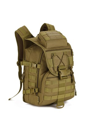 Protector Plus Tactical MOLLE Assault Backpack Pack Military Gear Rucksack 40 L Large Waterproof Bag Sport Outdoor For Hunting Camping Trekking