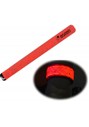 B.Seen BSeenTM 2ed Generation LED Slap Band, Patented Heat sealed design, Glow in the Dark, Water/sweat r