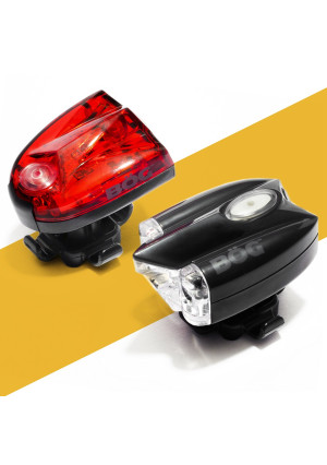 BoG Products USB Rechargeable LED Bike Light Set ? Bicycle or scooter headlight and taillight combo ? LIFETIME