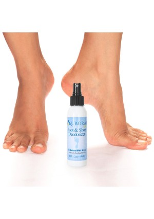 All-Natural Foot and Shoe Deodorizing Spray Made with Essential Oils, by Aurorae Spa | No Chemical