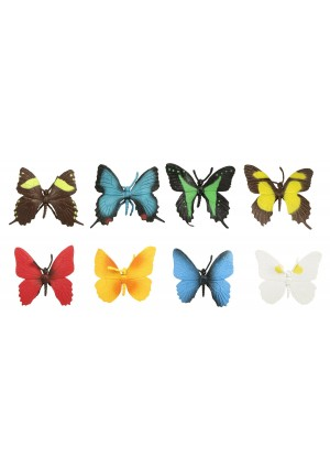 Safari Ltd. Safari Ltd Butterflies TOOB With 8 Hand Painted Toy Figurine Models Including a Red Glider, Green