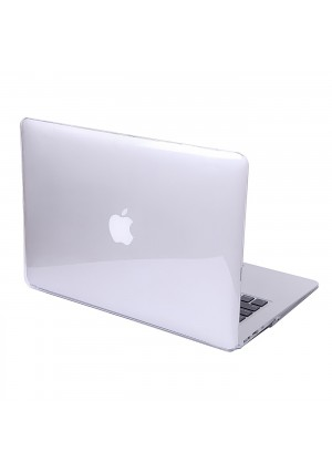 HDE MacBook Air 13 Glossy Case Hard Shell See Through Plastic Snap On Case Fits Models A1369 / A1466 (Clear)