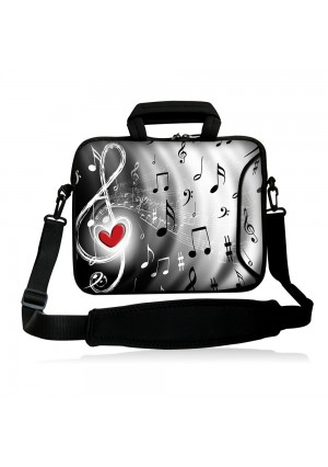 """Colorfulbags Universal Music Note 10 inch Laptop Messenger Bag case 9.7"""" - 10.2"""" Neoprene Messenger Bag - With Handles, Shoulder Strap, and Accessory Pockets (for 9.7 - 10.2 in laptops, ultrabooks, tablet pc)"""