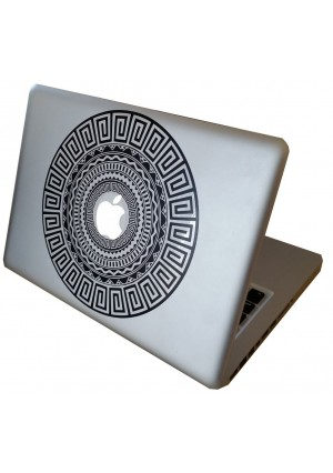 Dongz Apple Macbook Sticker - Best Removable Black and White Vintage Vinyl Decal - Original Vintage Skin For Mac/Pro/Retina/Air/13/15/17 inch Laptop - Cool Stickers Giving Unique Style