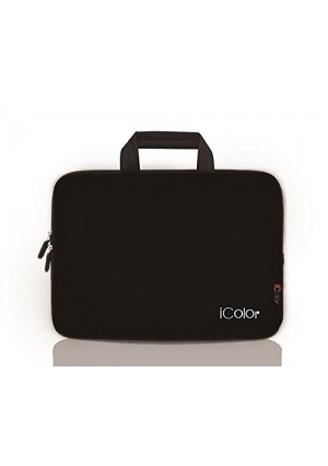 """iColor - Fashion Black 15""""-15.6"""" Inch Laptop / Notebook Computer / MacBook Air / MacBook Pro Case Briefcase Bag Pouch Sleeve Carry Case (IHB15-015)"""