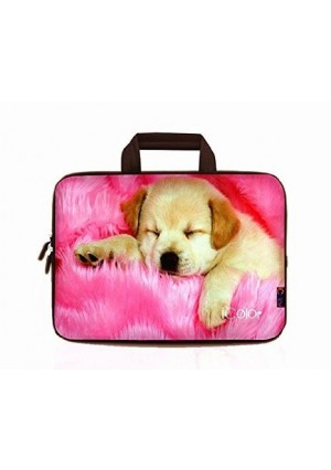 """iColor-Fashion Dog 17""""-17.3"""" Inch Laptop / Notebook Computer / MacBook / MacBook Pro Case Briefcase Bag Pouch Sleeve Carry Case (IHB17-006)"""