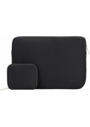 Mosiso Laptop Sleeve, Water Repellent Neoprene Case Bag Cover for 15-15.6 Inch Notebook Computer / MacBook Air and Pro with a Small Case, Black