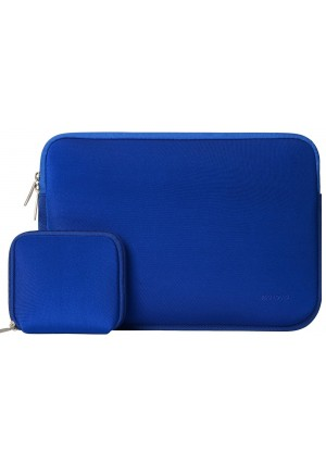 Mosiso Laptop Sleeve, Water Repellent Neoprene Case Bag Cover for 13-13.3 Inch MacBook Pro, MacBook Air, Notebook with a Small Case, Royal Blue