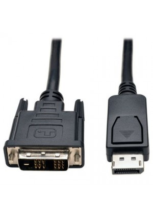 Tripp Lite DisplayPort to DVI Cable Adapter, DP with Latches, DP to DVI-D Single Link (M/M), DP2DVI, 6 ft.(P581-006)