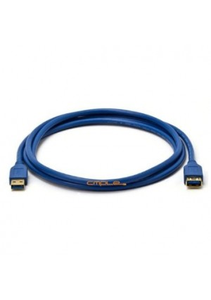 Cmple - USB 3.0 A Male to A Female Extension Gold Plated Cable - 6FT (Blue)