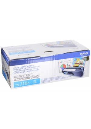 Brother TN310C Toner Cartridge for Brother Laser Printer Toner - Retail Packaging - Cyan
