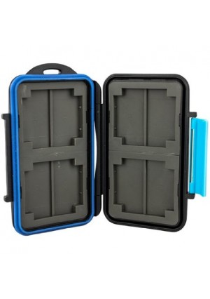 JJC MC-2 Memory Card Case Fits 4 x CF and 8 x SD Cards