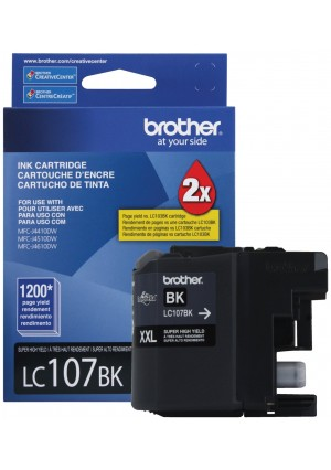 Brother Printer LC107BK Super High Yield Cartridge Ink, Black