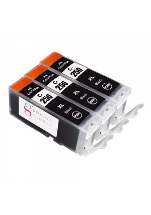 Sophia Global Compatible Ink Cartridge Replacement for Canon PGI-250XL (3 Large Black)
