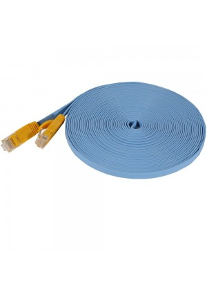 Fosmon Technology Fosmon (25 Feet - Light Blue) RJ45 CAT6 Snagless Ethernet Patch Cable [FLAT Tangle Free] - Ultra S