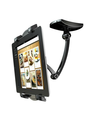 FLEXIMOUNTS P01 2-In-1 Tablet holder Kitchen Mount Wall Stand for 7-12 inch Tablets iPad Air/iPad mini and All Tablets (black)