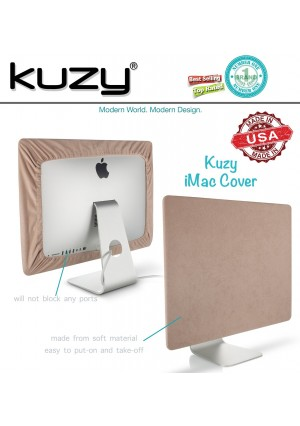 """Kuzy - SAND Brown Screen Cover for iMac 21.5"""" or iMac 20"""" Dust Cover Display Protector (A1224, A1311, A1418) - Sand 21.5"""""""