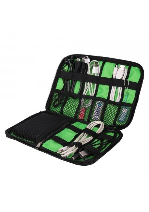 BAIGIO Black Cable Organizer Electronics Accessories Travel Bag USB Drive Bag Healthcare and Grooming Kit