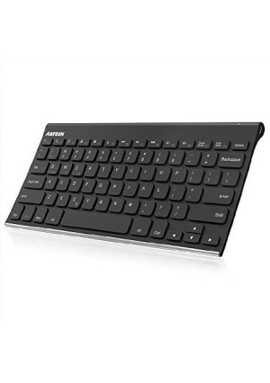 Bluetooth Keyboard, Arteck Stainless Steel Universal Portable Wireless Bluetooth Keyboard for iOS iPad Air, Pro, iPad Mini, Android, MacOS, Windows Tablets PC Smartphone Built in Rechargeable Battery