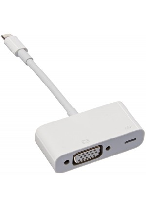 Apple MD825AM/A Lightning to VGA Adapter for iPhones, iPads - Retail Packaging