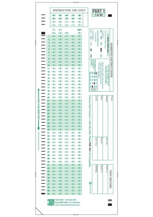Precision Data Products 100 Scantron 882-E Compatible Testing Forms, Pack of 100