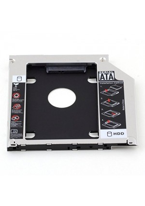 HIGHROCK Hard Drive Caddy Tray 9.5mm Universal SATA 2nd HDD HD SSD Enclosure Hard Drive Caddy Case Tray, for 9.5mm Laptop CD / DVD-ROM Optical Bay Drive Slot (for SSD and HDD)